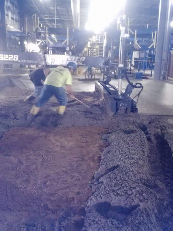 Industrial Concrete Finishing Installation