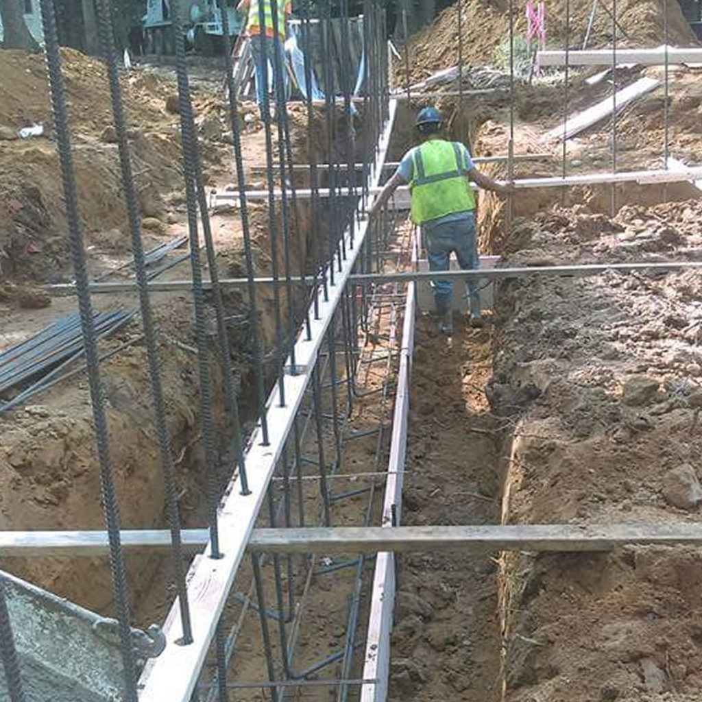Commercial Concrete Wall Installation